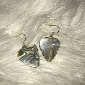 Mother of Pearl pick earrings nwot